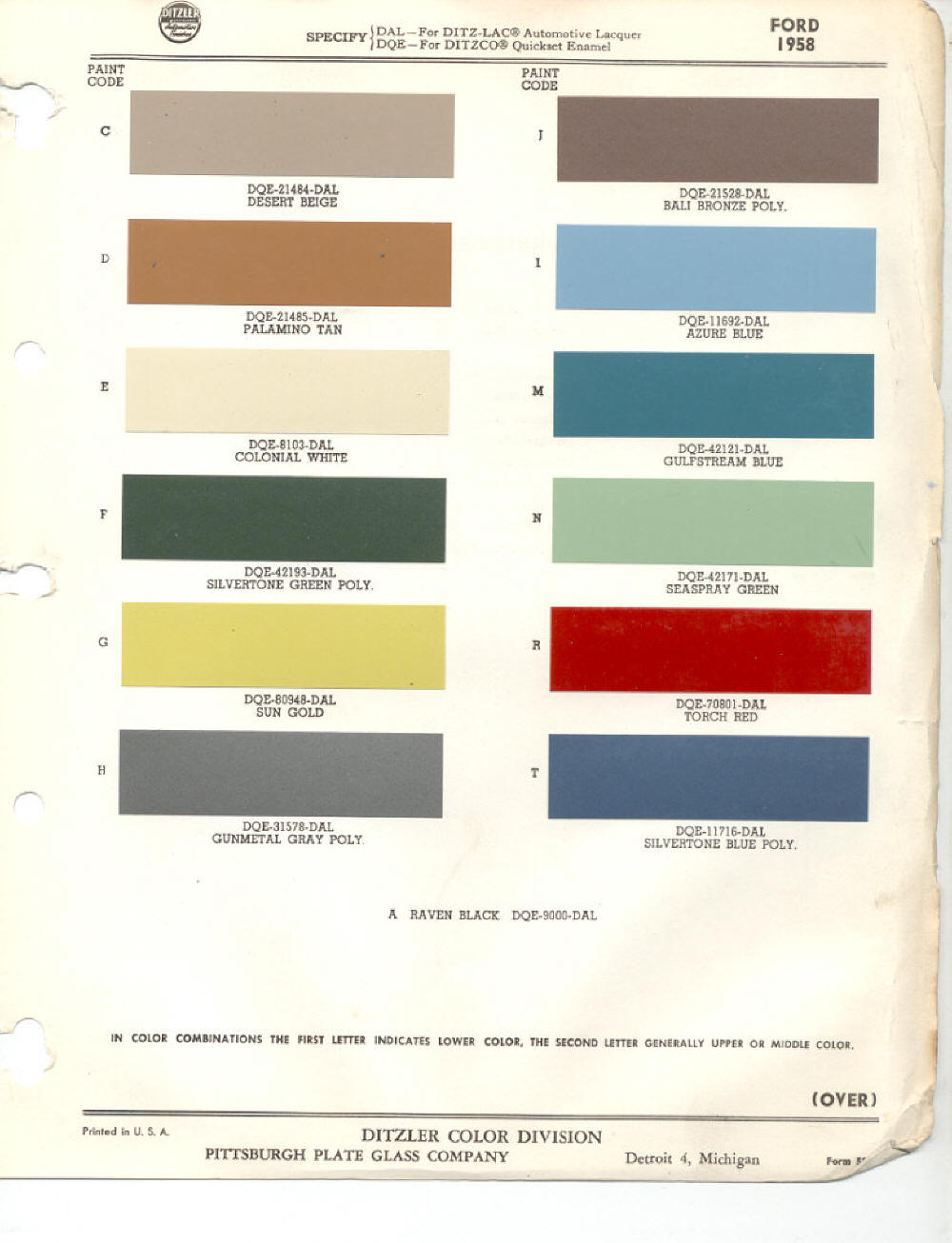 Ford red paint colors paint color ideas 1958 ford paint codes nvjuhfo Choice Image